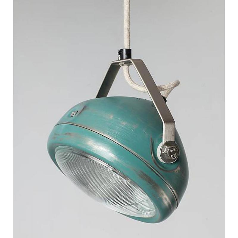 Het Lichtlab no5 hanglamp koplamp aqua